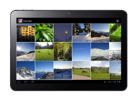 Example of a tablet gallery folder